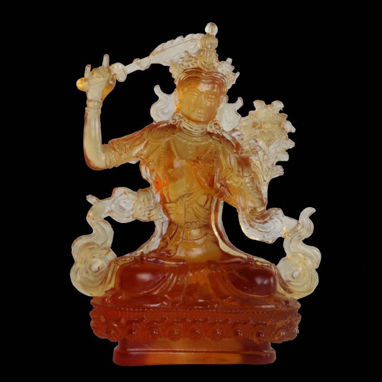 5.0寸文殊菩萨琉璃佛像