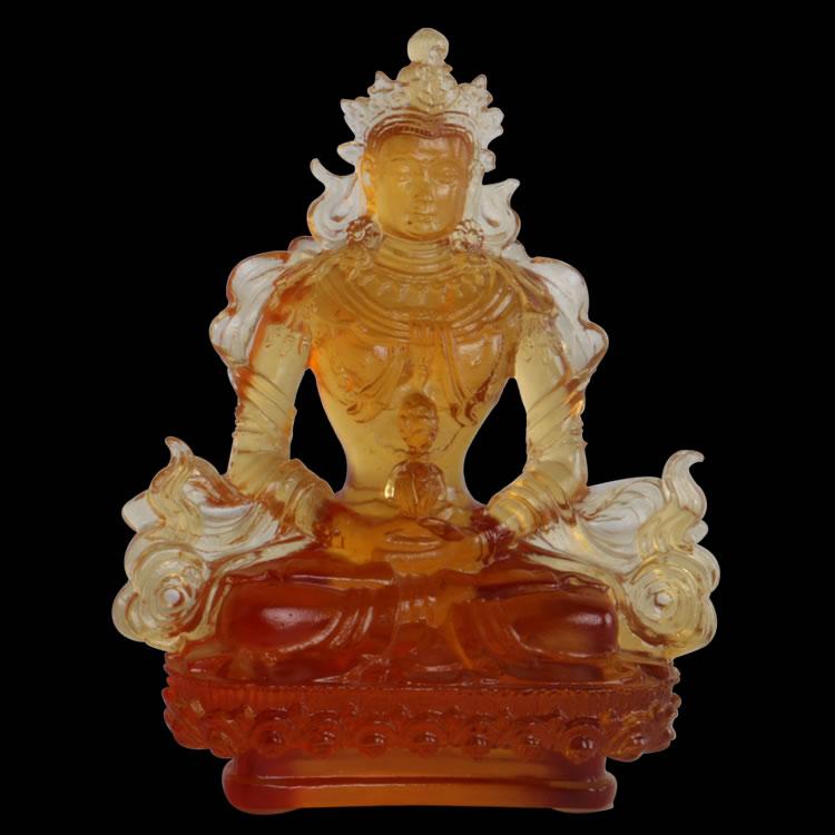阿弥陀佛长寿佛 古法琉璃密宗佛教摆件