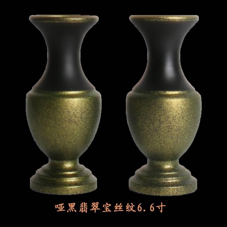 佛堂台面花瓶 素色纯铜花瓶 花插净瓶供瓶 光身素面 纯铜拉丝